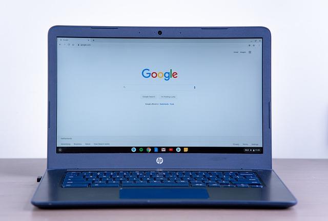 Page de recherche google